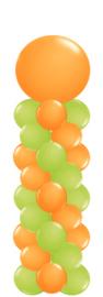 Ballonnenpilaar medium met topballon