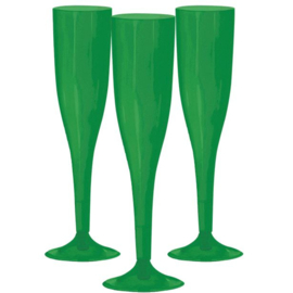 Plastic Champagneglazen Groen