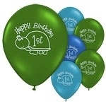 Turtle 1st Birthday Ballonen