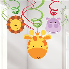 Animal Friends Hanging Swirls