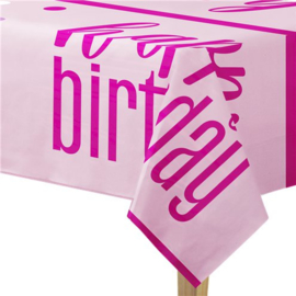 Pink Birthday Glitz Tafelkleed