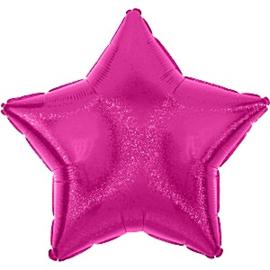 Folieballon ster fuchsia