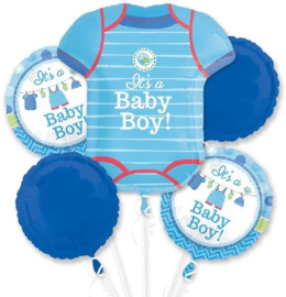 Shower  With Love Baby Boy Folie Ballonnen Boeket