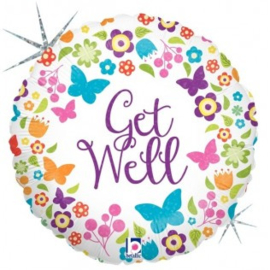 Get Well Butterflies Foil