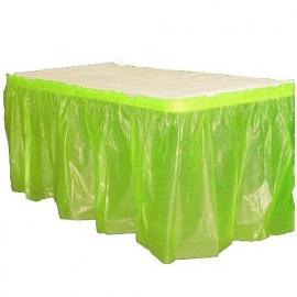Plastic tafelrok lime
