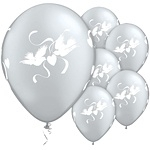 Ballon Love Dove Transparant