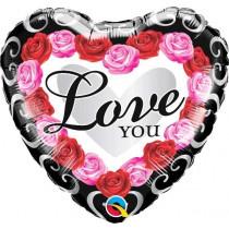 I Love You Roses Foil