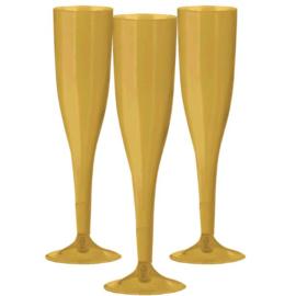 Plastic Champagneglazen Goud