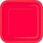 Kartonnen Bord Vierkant Rood