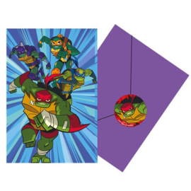 Rise of Teenage Mutant Ninja Turtles Uitnodigingskaarten