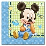 Mickey Mouse 1st Birthday Servetten