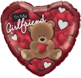 To My Girlfriend Bear Foil