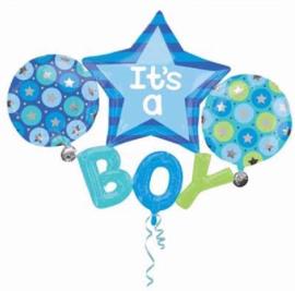 Its a Boy Folie Ballonnen Boeket
