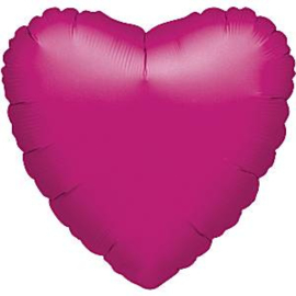 Folieballon hart magenta