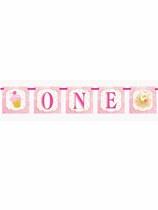 Pink & Gold  1st Birthday Letterslinger