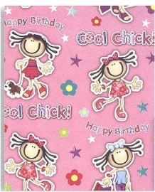 "Cadeaupapier ""Cool Chick"""
