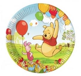 Winnie de poeh en piglet borden 23cm