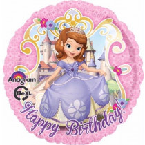 Princess Sofia Happy B-day Folie Ballon