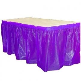Plastic tafelrok paars