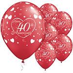 Ballonnen happy 40 anniversary rood