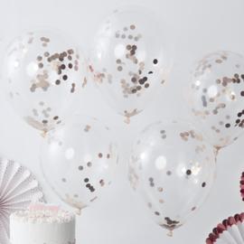 Confetti Ballonnen Sparkle Rose Gold
