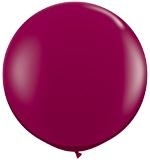 3ft (90cm) ballon bordeaux