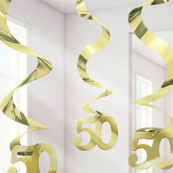 Hanging Swirl 50 Gold