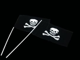 Black Pirates zwaai vlag