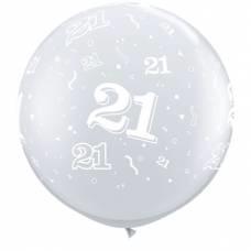 3ft (90cm) cijfer 21 transparant