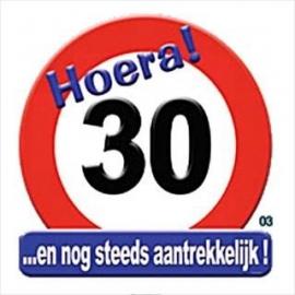 Verkeersbord Hoera 30