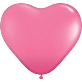 3ft (90cm) Harten ballon rose