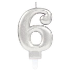 Cijferkaars Zilver nr. 6