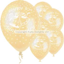 Ballonnen happy 30 anniversary