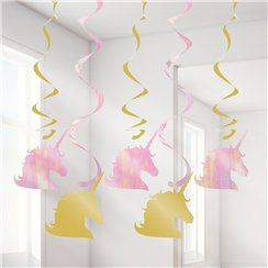 Unicorn Sparkle Hanging Swirls