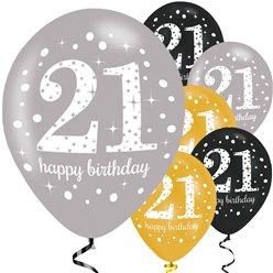 Helium ballon Sparkeling Celebrations 21th