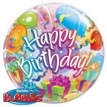 Happy B-Day Suprise Bubble Ballon