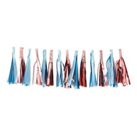 Rose Goud / Blauw Tassel Slinger