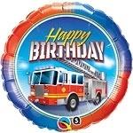 Brandweer auto Folie Ballon