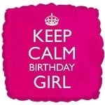 Keep Calm Birthday Girl Foil