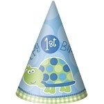Turtle 1st Birthday Hoedjes