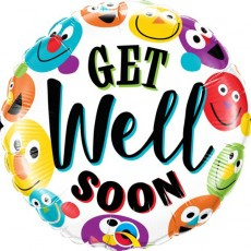 Get Well Faces Foil