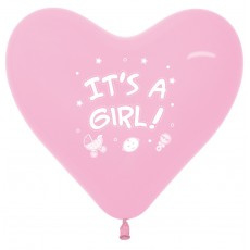 Ballon it's a girl hartjes