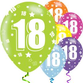 Helium ballon leeftijd 18 jaar