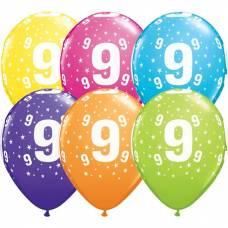 Helium ballon leeftijd 9 jaar