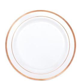 Rosé Goud / Wit Plastic Dessertbord