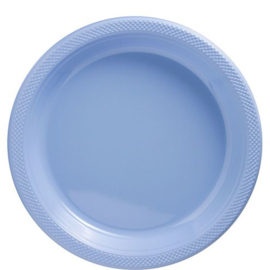Plastic Dessert en Lunchbord  Licht Blauw