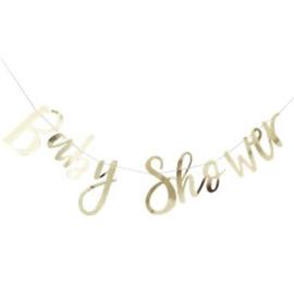 Baby Shower Gouden Letterslinger