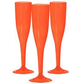 Plastic Champagneglazen Oranje