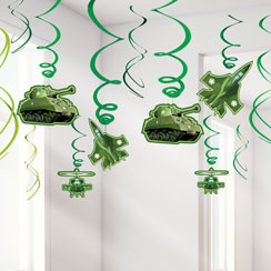 Camouflage Hanging Swirls