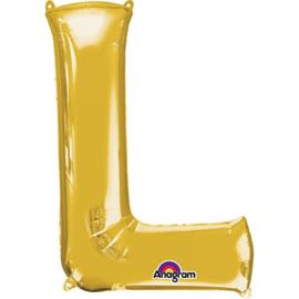 Folieballon letter L goud